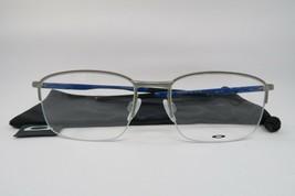 New Oakley OX3202-0352 TAPROOM 0.5 Light Grey/Shiny Blue Eyeglasses 52mm... - $84.10