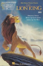 Walt Disney The Lion King 1994 Song Book Vocal Electronic Keyboards Shee... - $9.85