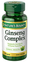Nature's Bounty Ginseng Complex with Royal Jelly & B12 Herbal Health Cap... - $20.92