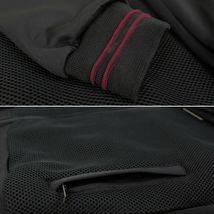Men's Lightweight Multi Pocket Letterman Varsity Mesh Track Bomber Jacket image 5