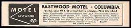 Eastwood Motel Ad Columbia Missouri 1964 Small Roadside Ad Travel - $10.99