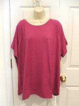 NWT $30 ST. JOHN'S BAY ULTRA PINK Tee  Shirt Top Womens Plus Size  3X - $24.74