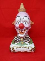 """Vintage 1980 Ezra Brooks """"Smiley"""" Clown Porcelain Decanter Empty Liquor Bottle - $52.46"""