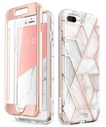 iPhone 7/8 Plus Cosmo Designer Case with Built-in Screen Protector (Marble) - $13.99