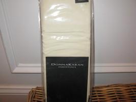 Donna Karan ESSENTIALS Percale Ivory Standard Pillowcases LUSTRE SEAM 410TC - $47.45