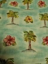 2 Waverly Palm Tree Balloon Valance Tropical Coast Beach Decor Hibiscus ... - $17.77