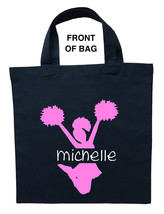 Cheerleader Trick or Treat Bag, Cheerleader Halloween Bag, Cheerleader Bag - $11.99+