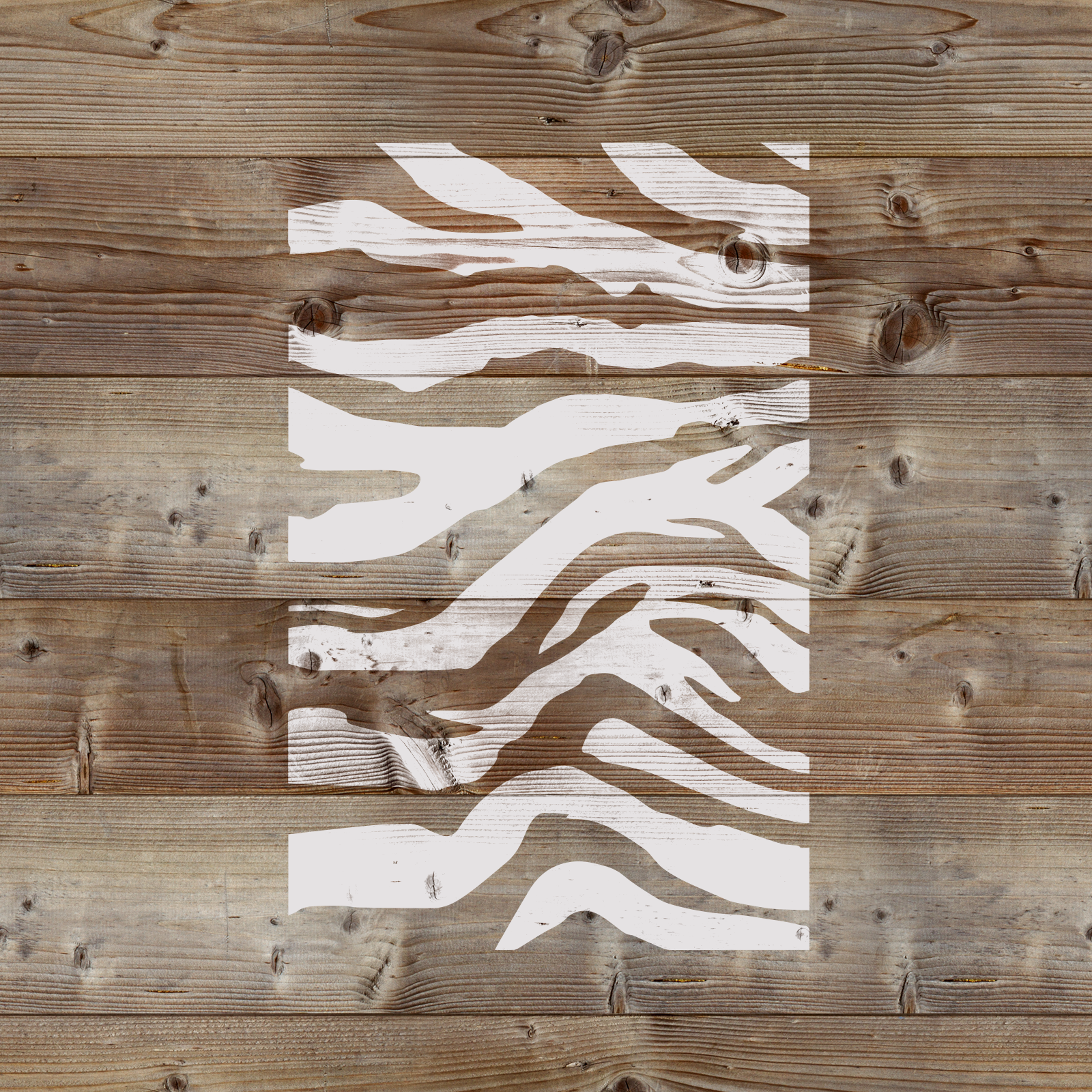 Tiger Stripes Stencil - Reusable Stencils of Tiger Stripes in Multiple Sizes