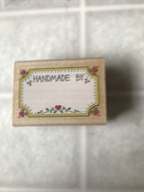 Handmade By With Hearts Tag Rubber Stamp Hero Arts 1990 E 138 - $9.49