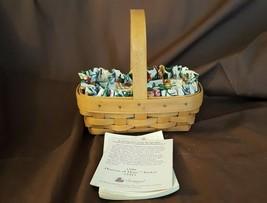 Longaberger 1996 Horizon Of Hope Basket Floral Fabric Liner & Plastic Pr... - $14.00