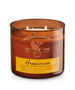 Bath & Body Works HAPPINESS - BERGAMOT & MANDARIN 3-Wick Candle - $52.23 CAD