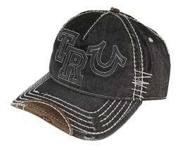 New True Religion Men's Premium Classic Trucker Distressed Hat Cap Buddha TR1995 image 2