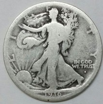 1916S Walking Liberty Half Dollar 90% Silver Coin Lot# E 66
