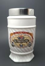CAO La Traviata Ceramic Cigar Tobacco Jar Humidor Stainless Glass Lid - $123.75