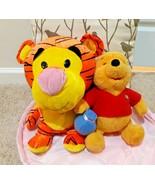 "17"" Six Flags Tigger & Winnie the pooh bear Plush Stuffed Animal Doll To... - $3.91"
