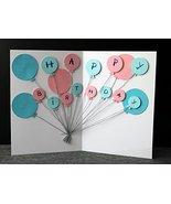Customized gift   Handmade Balloons Birthday Card   3D Happy Birthday Ca... - $6.49