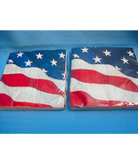 American Flag Large Luncheon Napkins 20 Count 2PLY Lot of 3 Red White Blue - $14.95