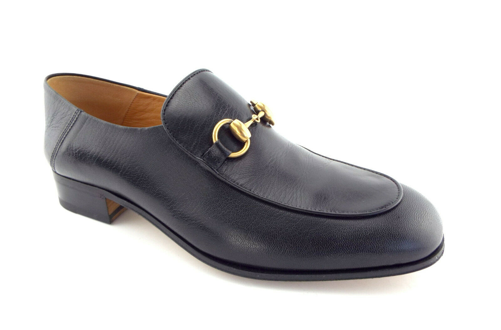 982819c9b New GUCCI Size 8 US Black Leather Collapsable Horsebit Loafers Shoes 7 UK -  $749.00