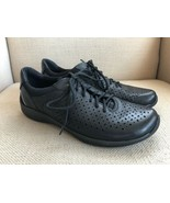Earth Shoes Kepler Black Perforated Leather Oxfords Womens US 9 - $37.08