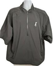 Footjoy Dryjoys Golf Windbreaker Jacket Short Sleeve Black Size XL Mens - $39.59