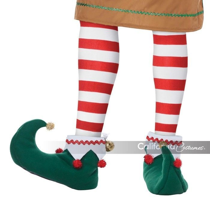 California Kostüm Elfen Schuhe Weihnachtsmann-Helfer Erwachsen Herren