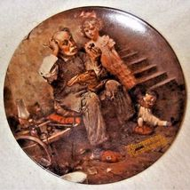 Vintage Norman Rockwell The Cobbler Knowles Collector Plate Fine China Dish - $12.99