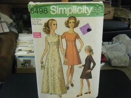 Simplicity 8498 Miss Petite Dress in 2 Lengths Pattern - Size 12MP Bust 34 - $10.09