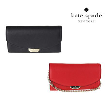 NWT KATE SPADE NEW YORK Mulberry Street MILOU Wallet Wristlet Red Black ... - $71.28+