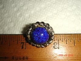 VTG MID CENTURY MODERN BRAIDED SILVER NEST BLUE STONE TIE TACK COLLAR BL... - $67.99