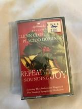 Hallmark Cassette Repeat the Sounding Joy Glenn Close & Placido Domingo New - $9.89