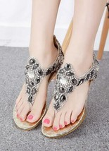 Golden Women Crystal Bridal Wedges Sandals,Golden Ladies Wedding Wedges sandals - $39.99