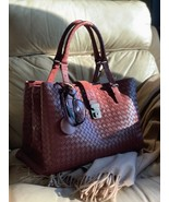 AUTH NWT Bottega Veneta Medium Roma Bag In Russet Intrecciato Calf Leather - $3,445.08