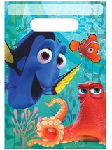 Finding Dory Party Favor Plastic Treat Bags 8 Per Package Birthday Suppl... - $1.96