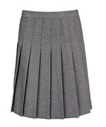"Momo&Ayat Fashions Senior Girls Top Stitched Pleated School Skirt 18"" & ... - $20.09"