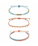 Tarsus Hand-Knitted Thread Wax Stackable Beaded Ankle Bracelets Yarn Bea... - $11.34