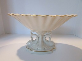 "LENOX CHINA CENTERPIECE BOWL 24 KT GOLD RIMMED AQUARIUS 11.75""W W/TAGS - $24.70"