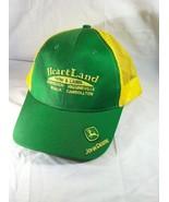 Heartland Farm & Lawn John Deere Trucker Hat Mesh Snapback Green Yellow  - $17.97
