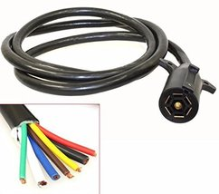 Outdoor Car Night Light Trailer Pure Copper Cable Cord 7FT With 7 Way Wi... - $39.95