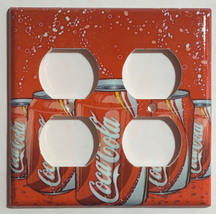 Coke Coca-Cola 12oz Can Toggle Rocker Light Switch Outlet wall Cover Plate decor image 4
