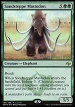Magic The Gathering MTG Foil Sandsteppe Mastodon Launch Card Fate Reforged - $2.95