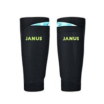 A Pair Double Thick Protective Shin Pad Non-Slip Gloves Knee Braces Black - $14.74