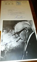 George Meany Autograph ~ Signed 8x10 B/W Photograph & 1979  AFL-CIO Letter - $94.05