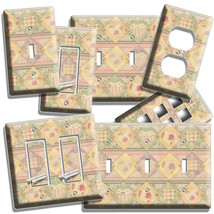 Retro Sewing Patchwork Light Switch Plate Outlet Scrapbooking Studio Room Decor - $9.99+