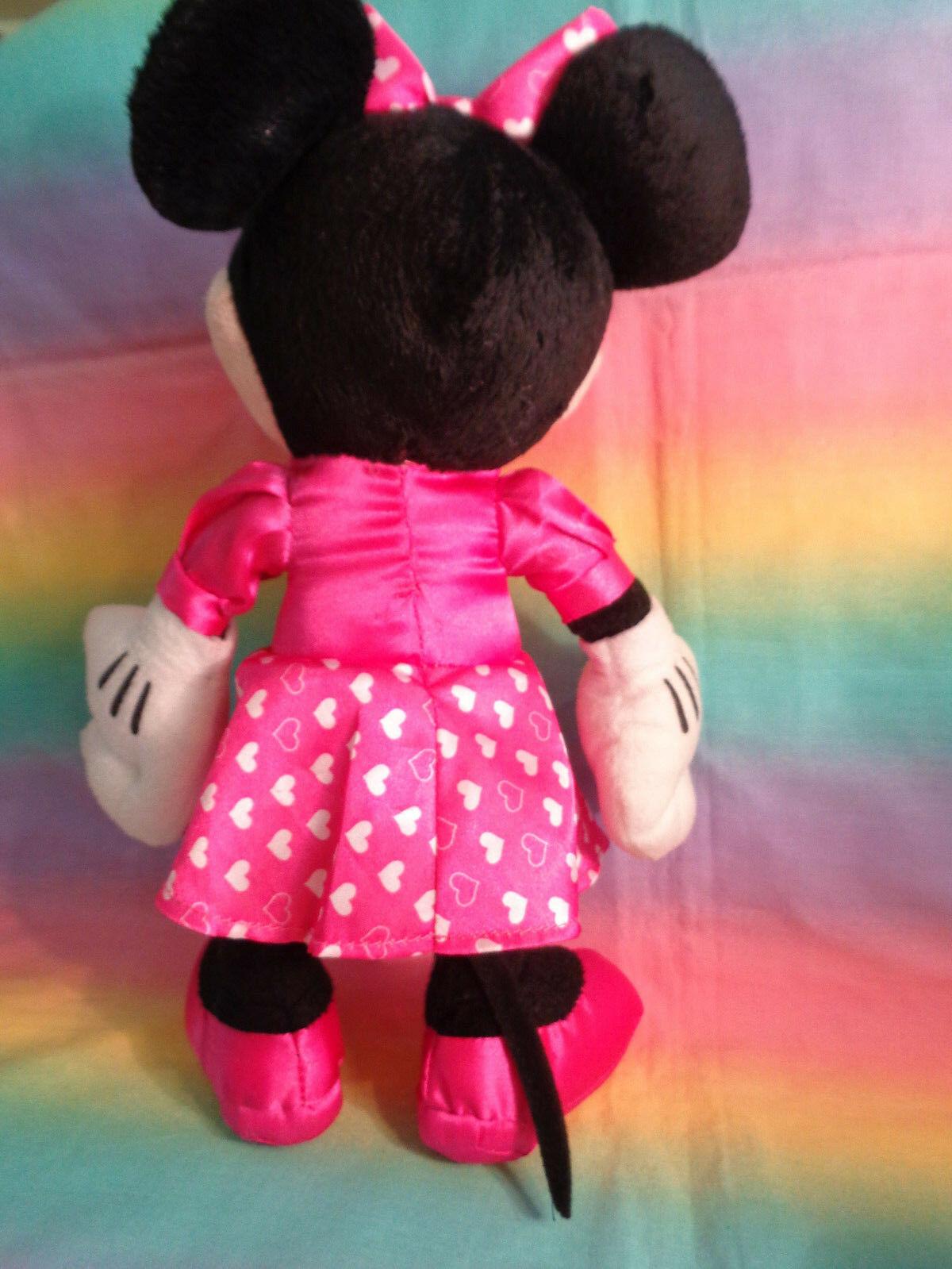 "Disney Kcare Kiu Hung Industries Minnie Mouse Pink Dress Plush Doll 13"" image 5"