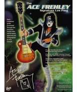 KISS Band Ace Frehley Gibson Les Paul Reproduction Stand-Up Display Coll... - $16.99