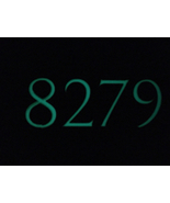 One sided glow in the dark address plaque. - $50.00