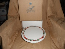 avon festive holiday dessert plate with pedestal 9 inch new in box - $7.69