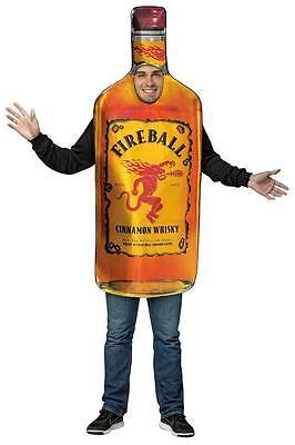 Fireball Bottle Get Real Costume Adult Alcohol Halloween Party Unique GC4253