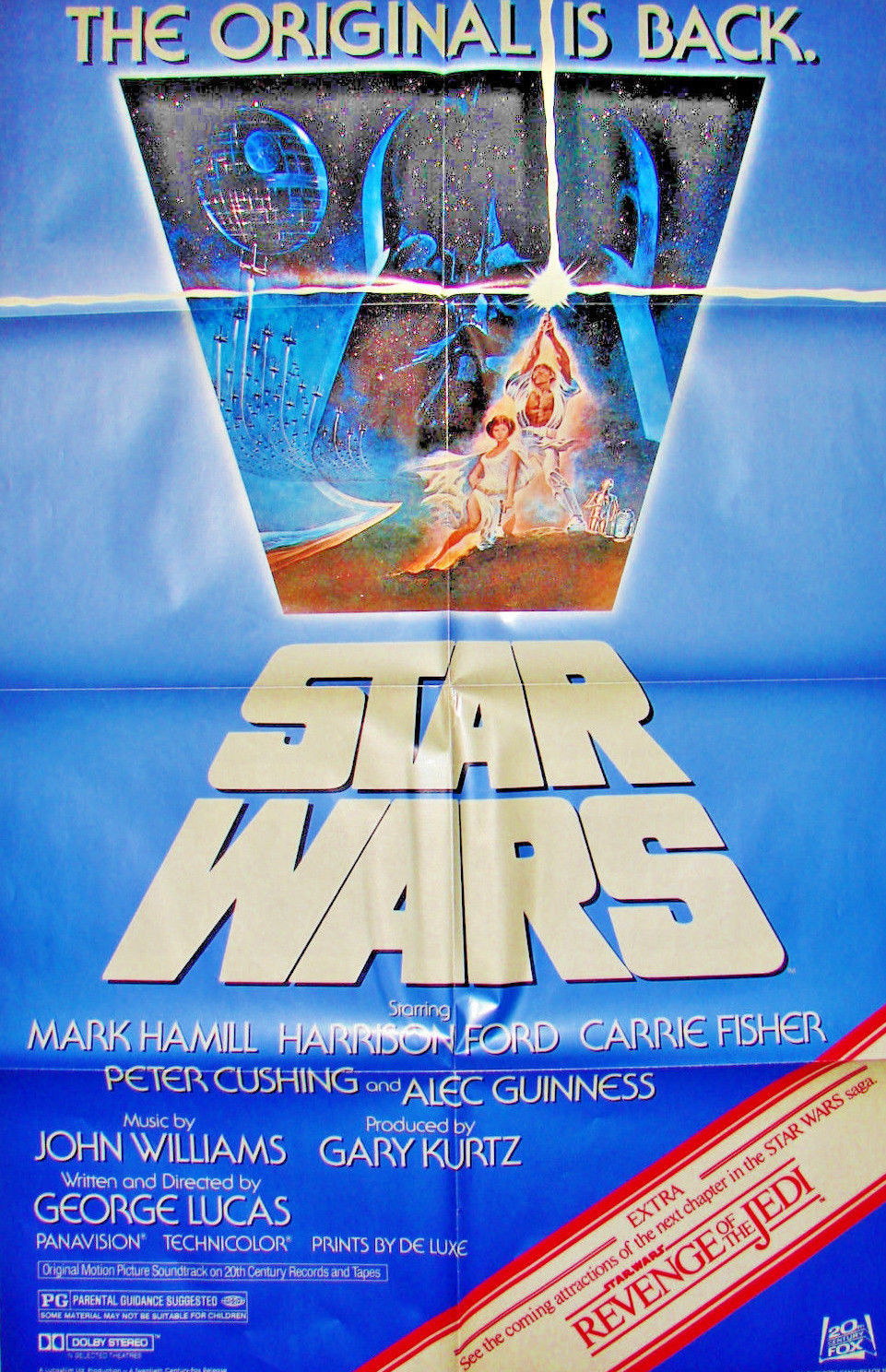 STAR WARS Original 1982 MOVIE POSTER 27x41 R820106 & REVENGE OF THE JEDI Trailer