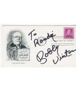 BOBBY VINTON AUTOGRAPHED US FIRST DAY COVER SINGER - $7.68